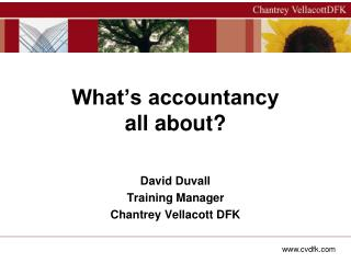 What's accountancy all about?