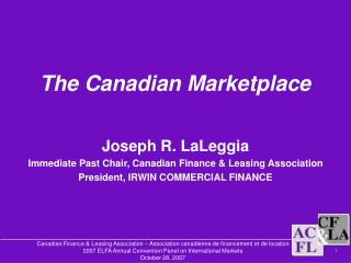 The Canadian Marketplace