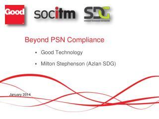 Beyond PSN Compliance