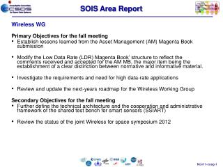 SOIS Area Report