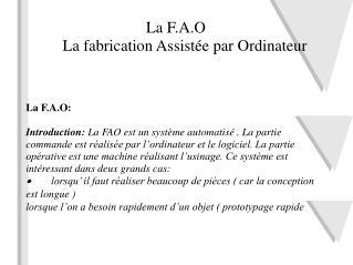 La F.A.O: