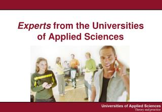 Experts  from the Universities of Applied Sciences