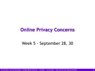 Online Privacy Concerns