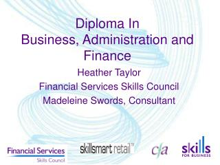 Diploma In  Business, Administration and Finance