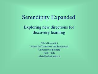 Serendipity Expanded