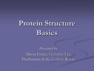 Protein Structure Basics