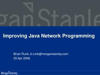 Improving Java Network Programming