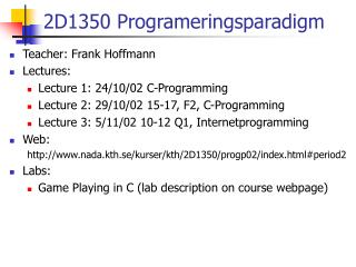 2D1350 Programeringsparadigm