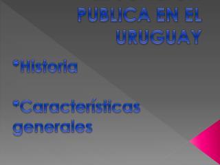 EDUCACION PUBLICA EN EL URUGUAY