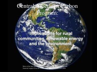 Central American Carbon Program: