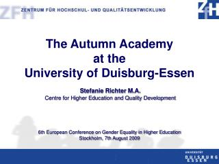 The  Autumn Academy at the