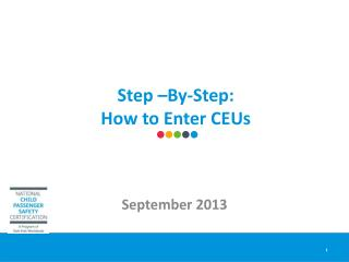 Step –By-Step:  How to Enter CEUs