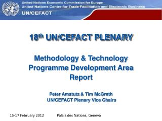 18 th  UN/CEFACT PLENARY