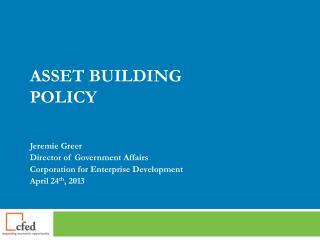 Asset Building Policy