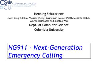 NG911 - Next-Generation Emergency Calling