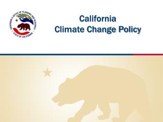 California  Climate Change Policy