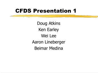 CFDS Presentation 1