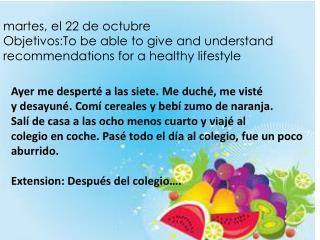 m artes , el 22 de  octubre