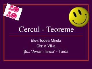 Cercul - Teoreme