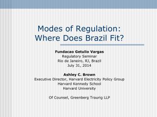 Modes of Regulation: Where Does Brazil Fit?