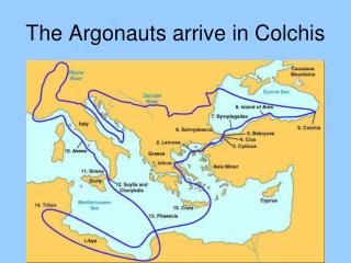 The Argonauts arrive in Colchis