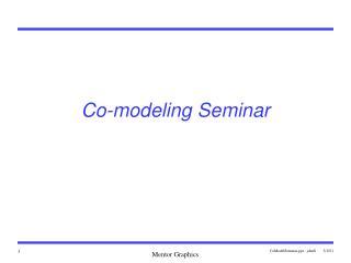 Co-modeling Seminar