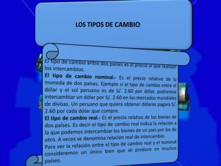 LOS TIPOS DE CAMBIO