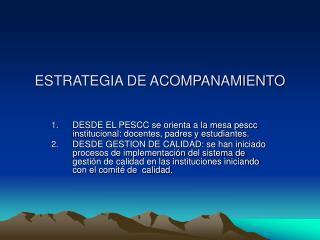 ESTRATEGIA DE ACOMPANAMIENTO
