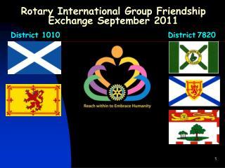 Rotary International Group Friendship Exchange September 2011