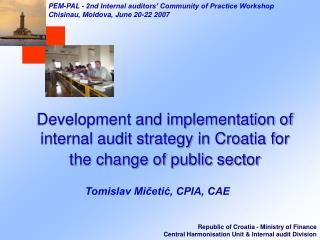 PEM-PAL  -  2nd Internal auditors' Community of Practice Workshop