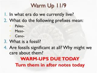 Warm Up 11/9