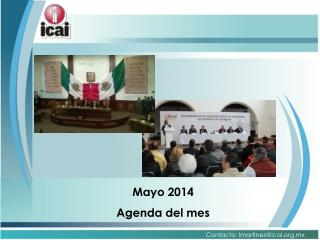 Mayo 2014 Agenda del mes