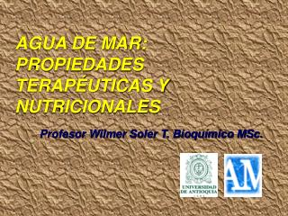 AGUA DE MAR: PROPIEDADES TERAP�UTICAS Y NUTRICIONALES