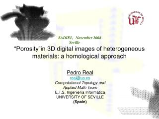 """Porosity""in 3D digital images of heterogeneous materials: a homological approach"