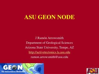 ASU GEON NODE