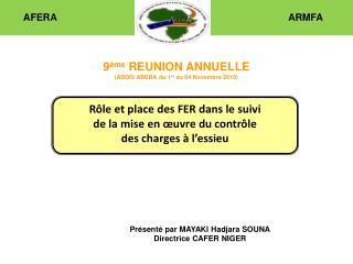 Rôle et place des FER dans le suivi de la mise en œuvre du contrôle  des charges à l'essieu