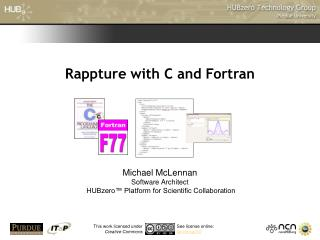 Rappture with C and Fortran
