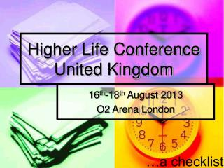 Higher Life Conference United Kingdom