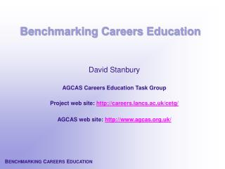 Benchmarking Careers Education