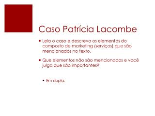 Caso Patrícia  Lacombe