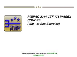 RIMPAC 2014 CTF 176 WASEX CONOPS (War –at-Sea Exercise)