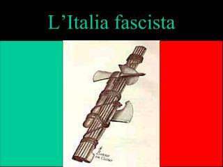 Il crollo dello stato liberale e l'avvento del fascismo