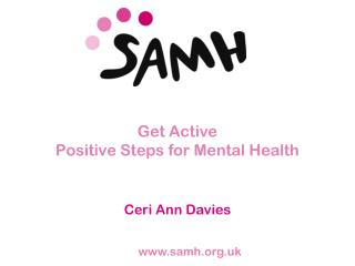 Get Active  Positive Steps for Mental Health