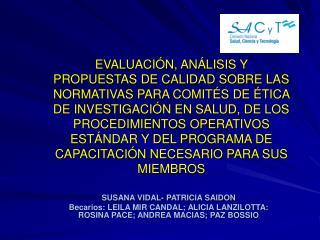 SUSANA VIDAL- PATRICIA SAIDON