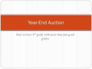 Year-End Auction
