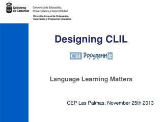 Designing CLIL