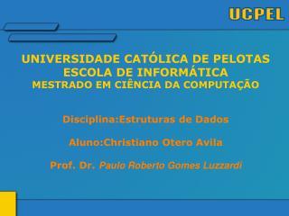 UNIVERSIDADE CATÓLICA DE PELOTAS ESCOLA DE INFORMÁTICA MESTRADO EM CIÊNCIA DA COMPUTAÇÃO