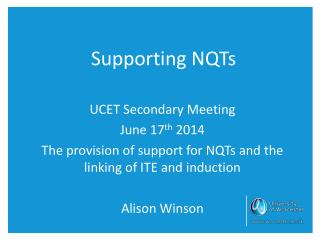 Supporting NQTs
