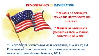 * Number of emigrants leaving the United States has decreased.