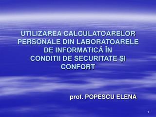 prof. POPESCU ELENA